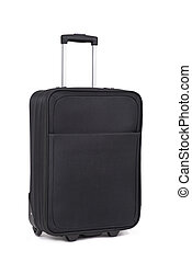 black trolley case on a white background
