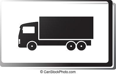 black truck in frame
