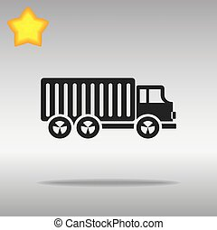 black Truck lorry Icon button logo symbol concept high quality