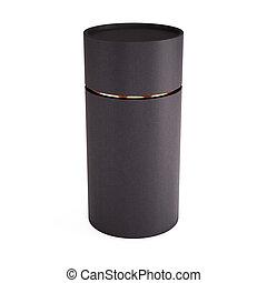 Black tube opened isolated on white background. 3d...