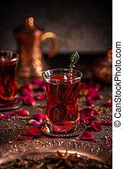 Turkish tea concept