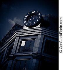 turret clock - black turret clock