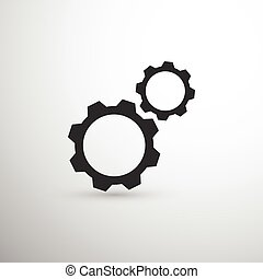 Black two gears icon
