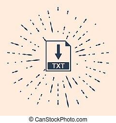 Black TXT file document icon. Download TXT button icon ...