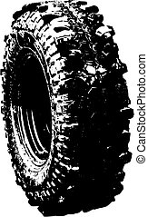 black tyre offroad symbol