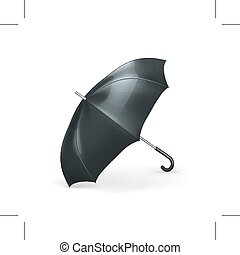 Black umbrella illustration