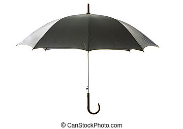 Black umbrella - Image of simple black umbrella over white...