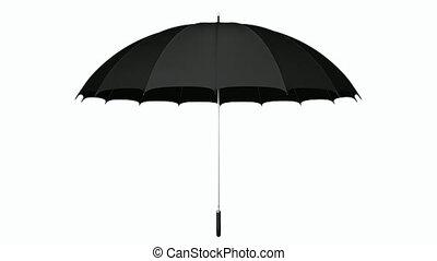 Black umbrella looping 3D animation