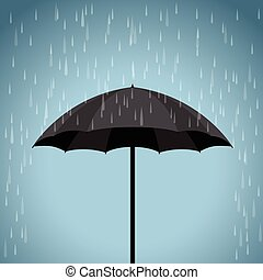 black umbrella rain background
