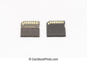 Black unbranded memory SD cards