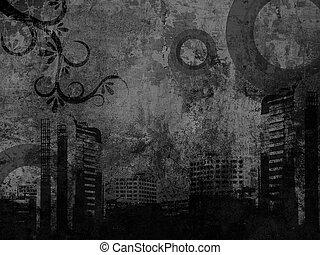 black urban background