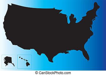 Black USA map