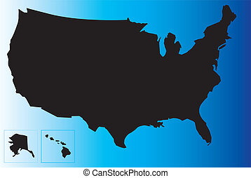 Black USA map