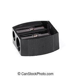 Black used pencil sharpener