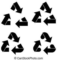 Black utilization arrow and arrows icon. - Black utilization...