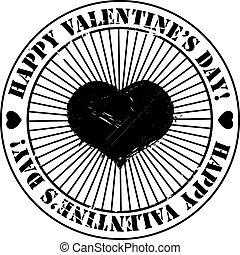 Black Valentine stamp