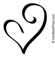 Black Valentines Heart