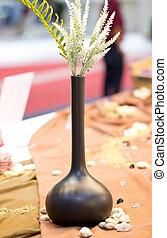 Black Vase Isolated on White.