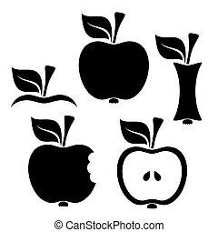 black-vector-apple-design-elements-on-white-background.eps