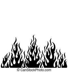 Black vector fire flame design element
