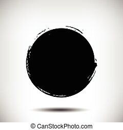 Black vector grunge circle background