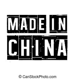 Black vector grunge stamp MADE IN CHINA