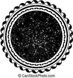 Black vector grunge template for rubber stamp