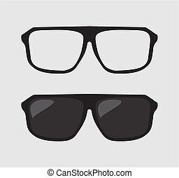 Black vector hipster sunglasses
