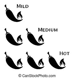 black-vector-hot-chilli-peppers-mild-medium-hot