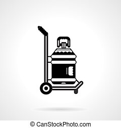 Black vector icon for potable water delivery - Black contour...