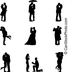 Silhouette Couples In Love