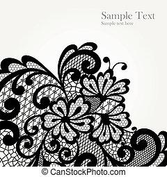 Black vector lace corner
