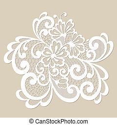 Black vector lace ornament - Vector ornament. Black lace...