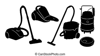 black vector outline Cleaners
