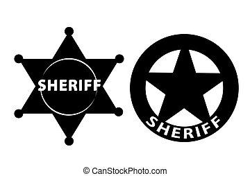 Sheriff star - Black vector Sheriff star on white background...