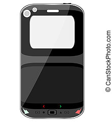 black vector smart phone