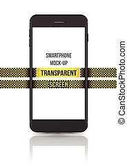 Black vector smartphone mock-up