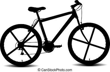 black vector sport bycicle silhouette eps 10