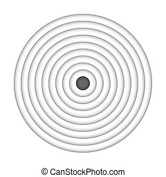 Black vector target isolated on white background.