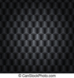 Black vector technology background with 3D effect for your design