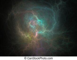 black , verlichting, fractal