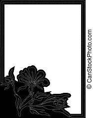Black vertical frame