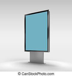 Black vertical turned monitor mockup .