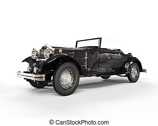 Black vintage covertible car