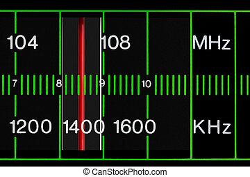 vintage radio tuner - black vintage radio tuner closeup with...