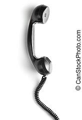 black vintage telephone handset