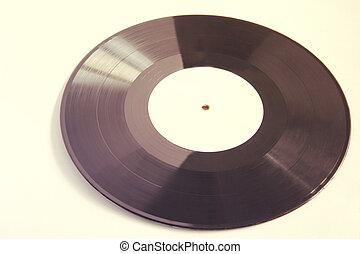 Black vinyl isolated on white