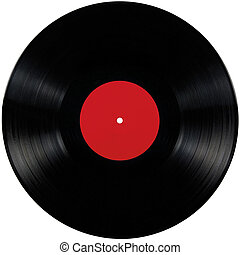 Black vinyl lp album disc, isolated long play disk with ...