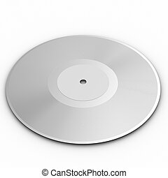 Black vinyl record lp album disc over white background