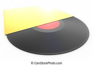 Black vinyl record lp album disc